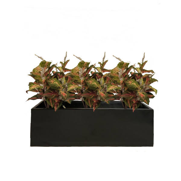 Artificial Green Coleus Bush Planter (0.7m)