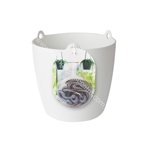 Brussels Hanging Basket 18cm in white