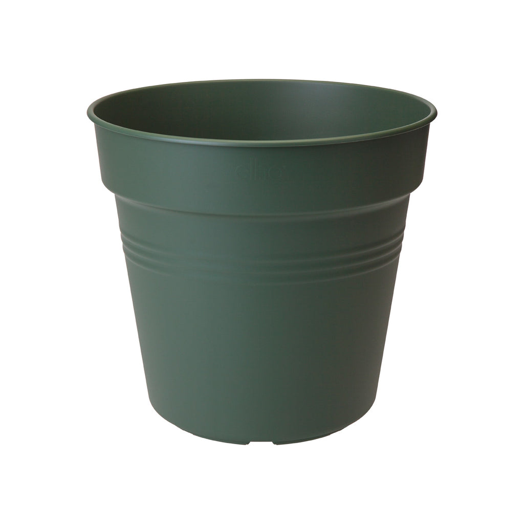 Green Basics Growpot 11cm in Leaf Green with 10cm Saucer