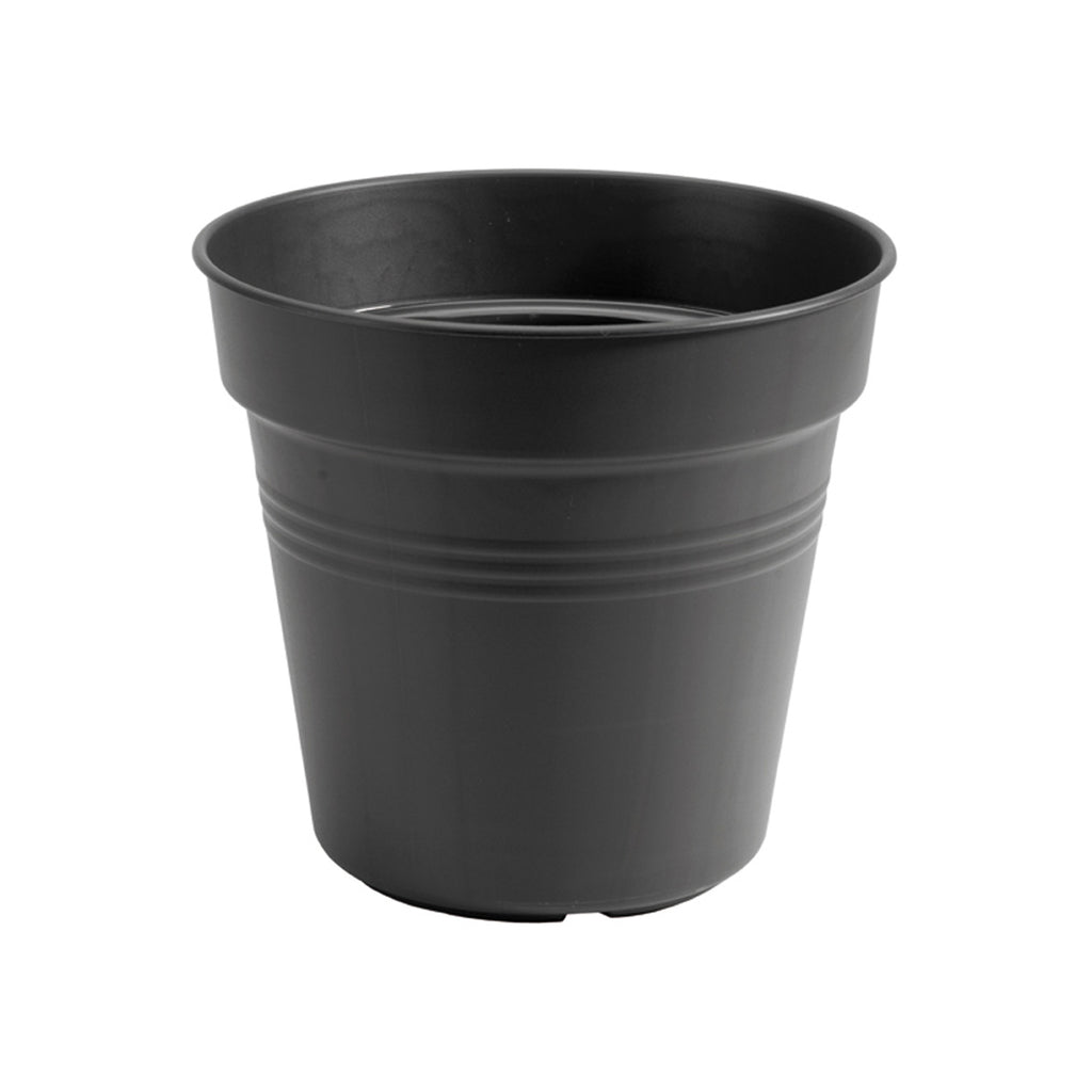 Green Basics Growpot 21cm in Living Black with 17cm Saucer