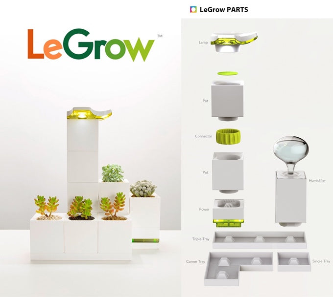 LeGrow LED Lamp Set with Begonia Leaf