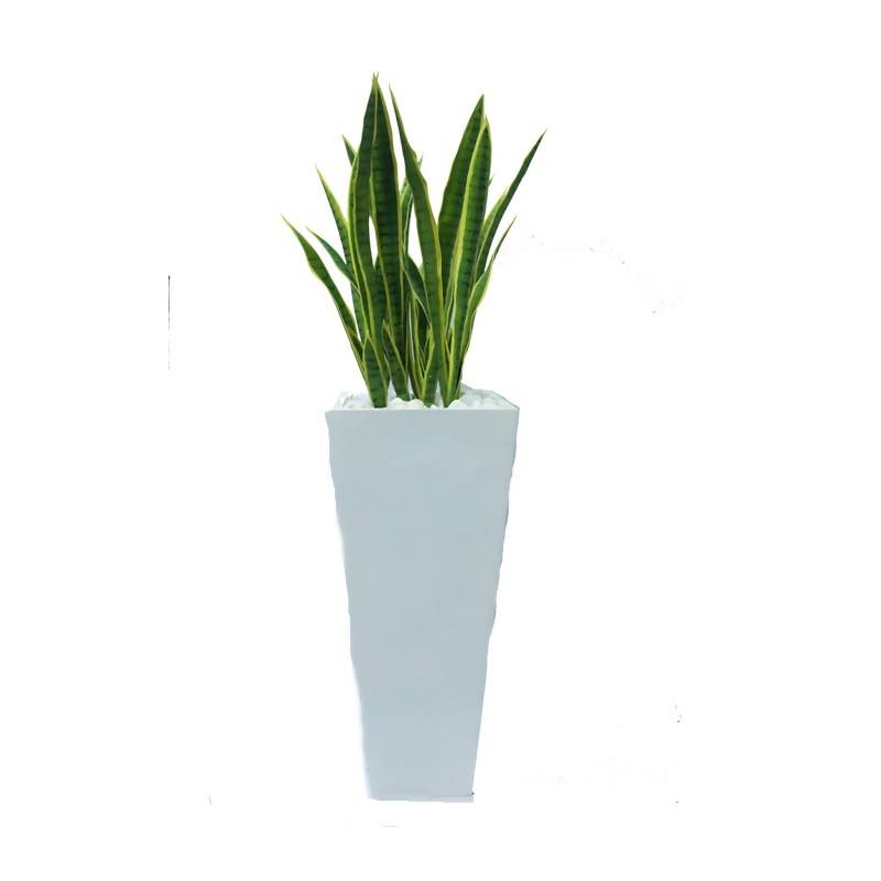 Artificial Snake Grass with White Pot (1.5m)