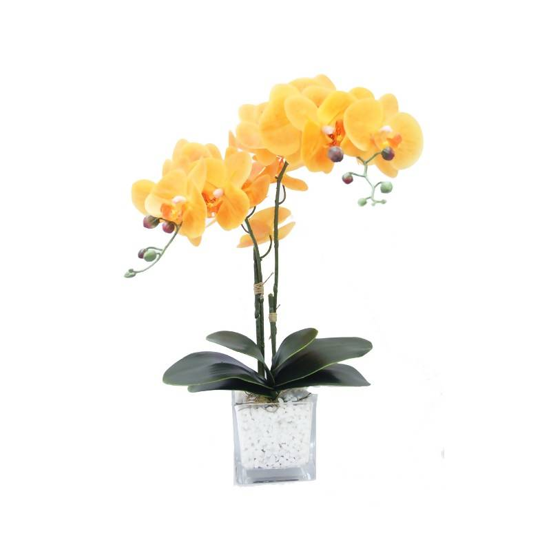 Artificial Orange Phalaenopsis Orchid Arrangement (0.55m)