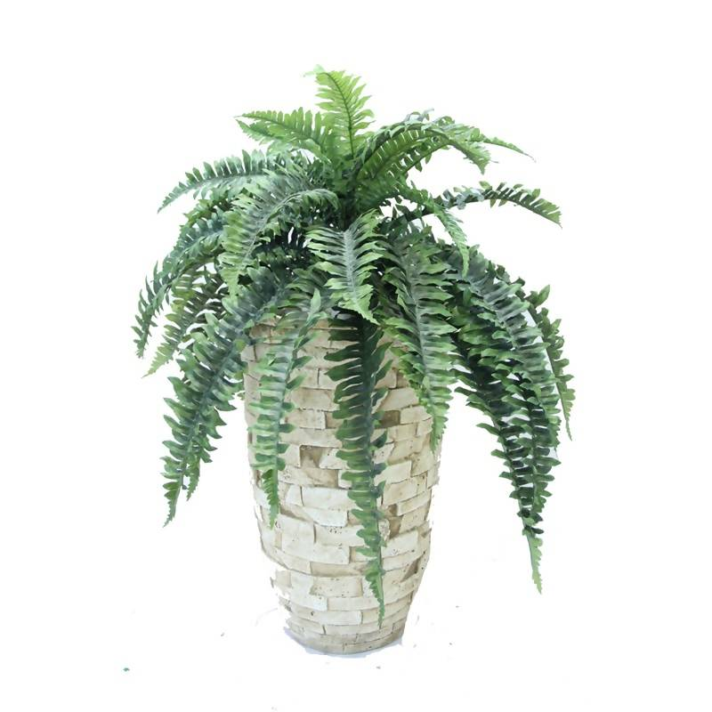 Artificial Potted Large Boston Fern Bush (0.8m)