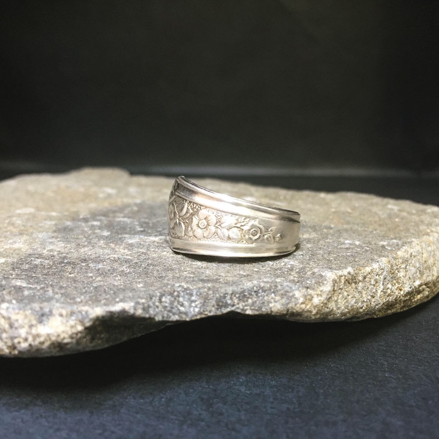 Ring handcrafted from vintage spoon