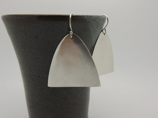 spoon earrings - brushed tips