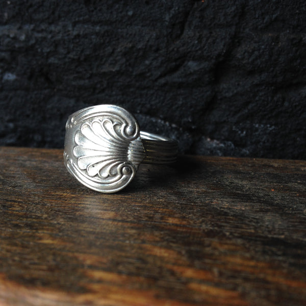 vintage spoon ring - the king