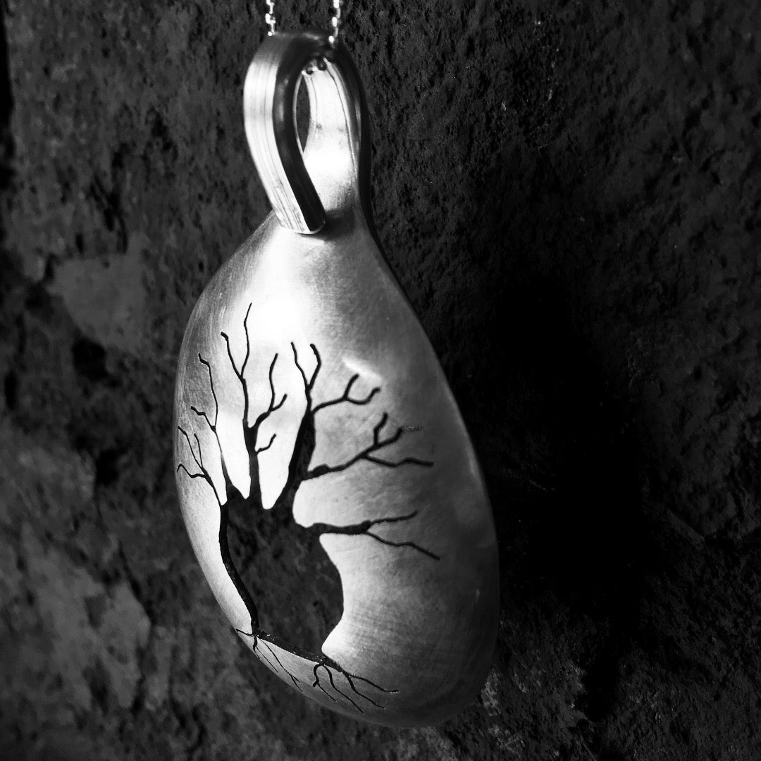 Boab tree spoon pendant - handsawed