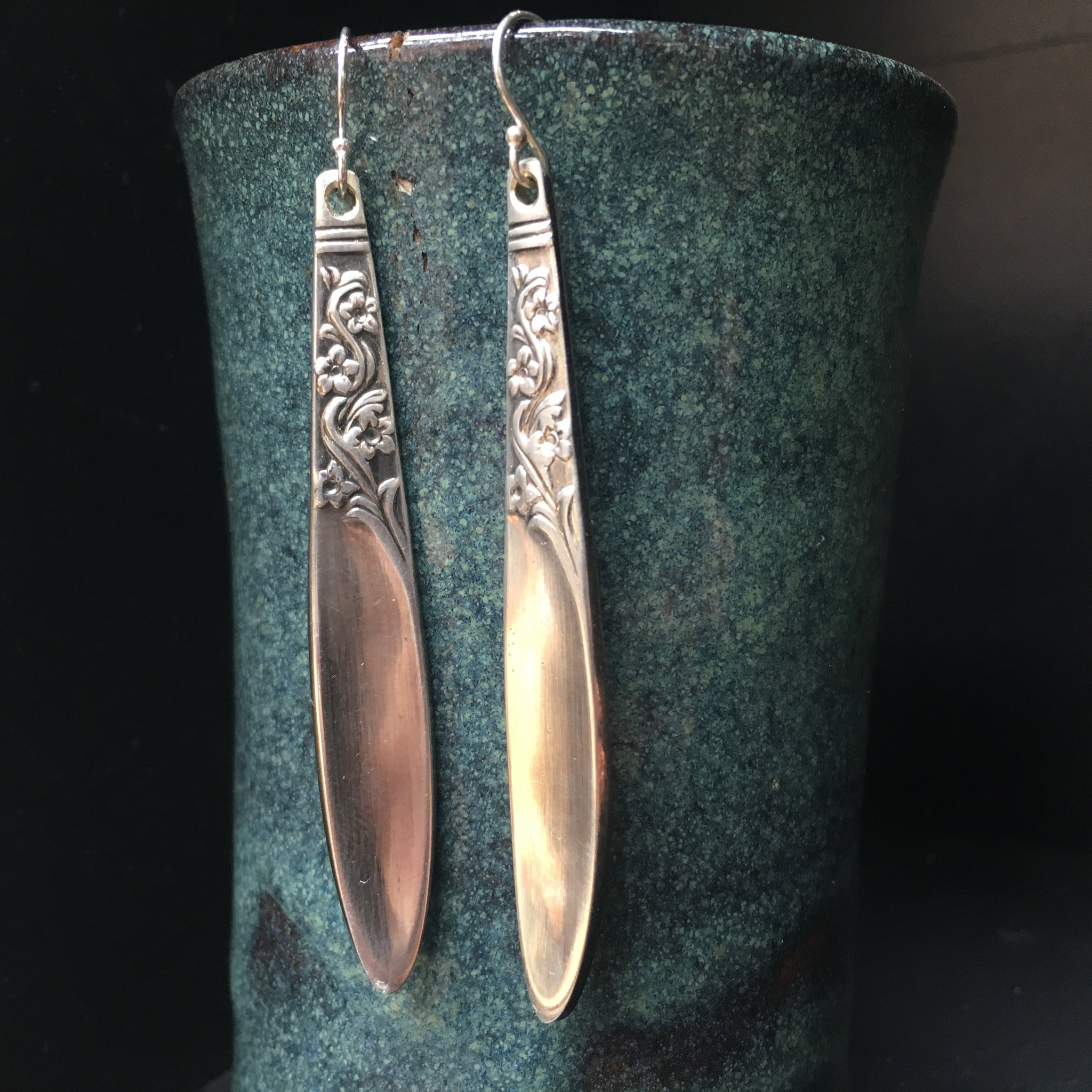 Vintage spoon drop earrings