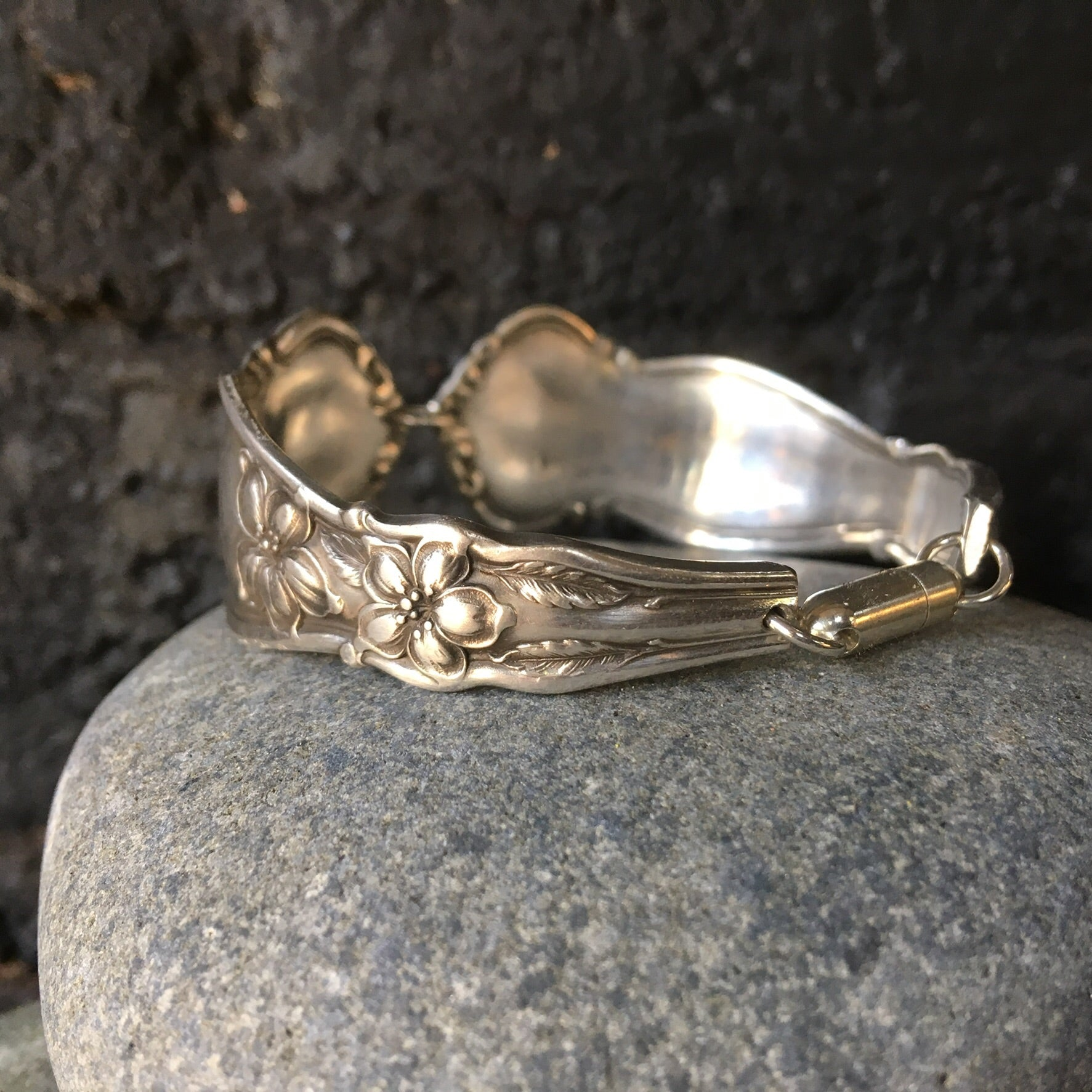 Bracelet handcrafted from antique spoons