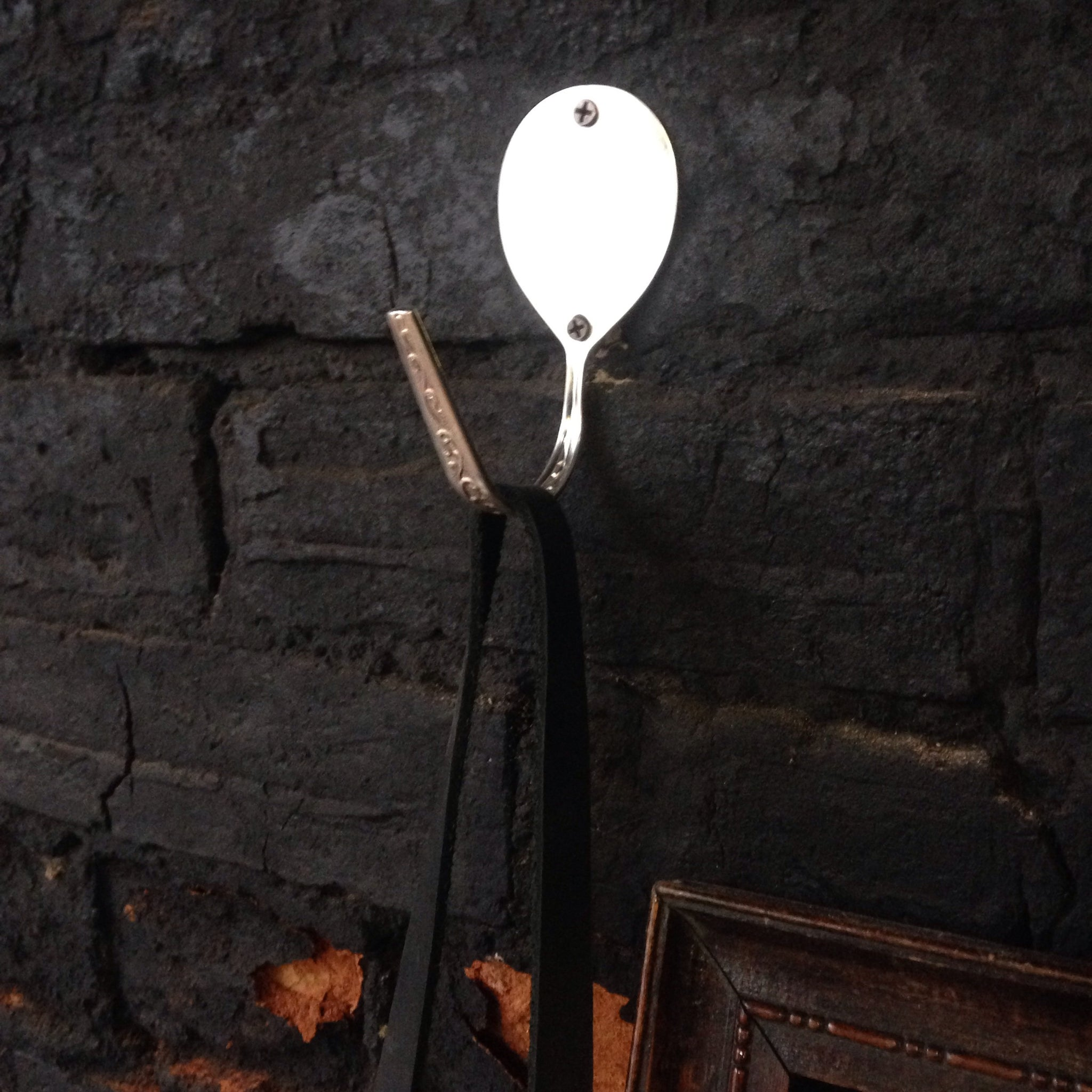 Soup spoon hook from vintage silverware