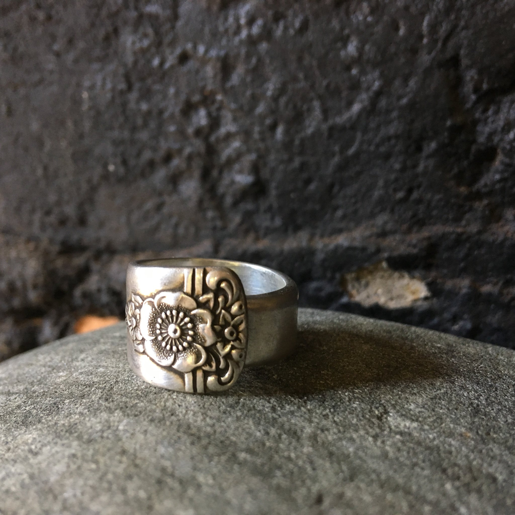 Spoon Ring - floral