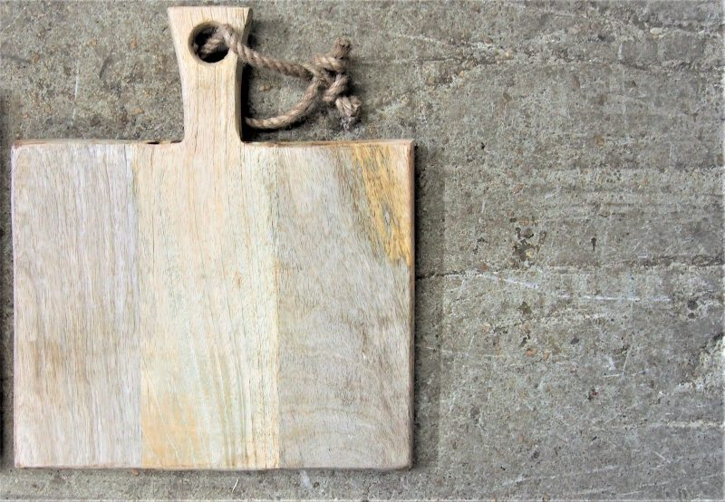 Square Chopping Board with Rope