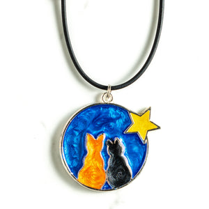Cats and Star Pendant