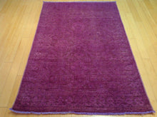 Load image into Gallery viewer, Beautiful Handmade Pretty Handknotted Overdye Wool Oriental Purple Color Modern Unique Rug