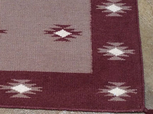 Fine Southwestern Design Handmade Artisan Handwoven Real Wool Classy Amazing Unique Rug