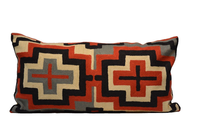 Geometric Pattern Southwestern Style Hand-Woven Kilim Pillow Cover brpsf-2121