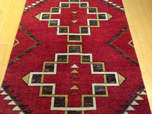 Load image into Gallery viewer, Fine Southwestern Tribal Design Handmade Lovely Handknotted Real Wool Amazing Unique Rug