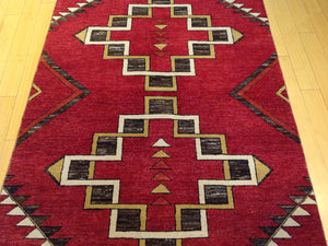 Fine Southwestern Tribal Design Handmade Lovely Handknotted Real Wool Amazing Unique Rug