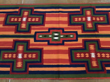 Load image into Gallery viewer, Chainstitch Stitch Kashmir Southwestern Handmade Handwoven Real Wool Classy Amazing Unique Rug