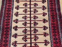 Load image into Gallery viewer, Beautiful Interior-Decorator Afghan Baloch Prayer Handmade Splendid Handknotted Real Wool Unique Rug