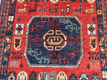Load image into Gallery viewer, Afghan Ersari Pretty Traditional Artisan Handknotted Splendid Handmade Real Wool Unique Rug