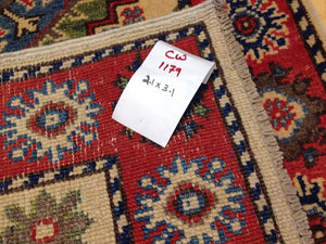 Fine Interior-Decorator Handknotted Tribal Kazak Real Wool Handmade Oriental Amazing Unique Rug