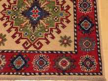 Load image into Gallery viewer, Fine Interior-Decorator Handknotted Tribal Kazak Real Wool Handmade Oriental Amazing Unique Rug