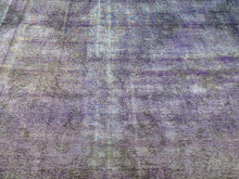 Load image into Gallery viewer, Oriental Handmade Pretty Handknotted Overdyed Lovely Purple Real Wool Amazing Unique Rug