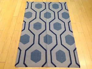 Beautiful Interior-Decorator Pretty Handwoven Modern Dhurrie Reversible Kilim Handmade Real Wool Rug