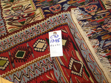 Load image into Gallery viewer, 2X9 Interior-Decorator Pretty Handwoven Reversible Persian Sanna Kilim Classy Flatweave Handmade Rug
