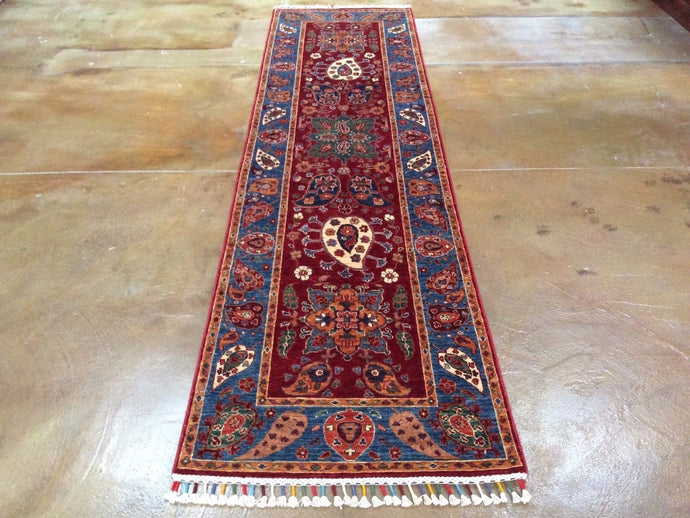 Chobi Runner Multicolored HandKnotted HandWoven 100-Percent Wool