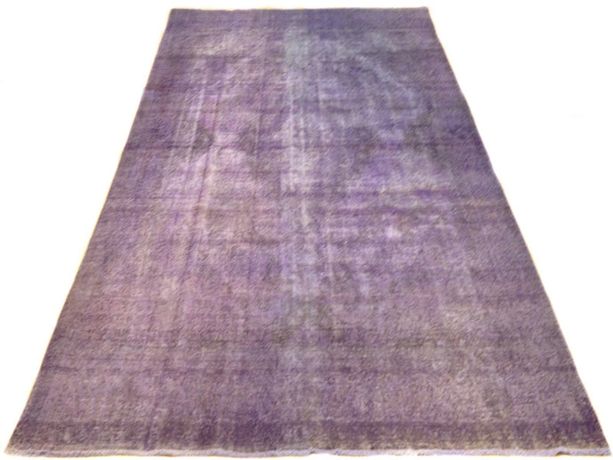 Oriental Handmade Pretty Handknotted Overdyed Lovely Purple Real Wool Amazing Unique Rug