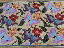 Load image into Gallery viewer, Chainstitch Stitch Kashmir Butterfly Design Lovely Handwoven Real Wool Amazing Unique Rug