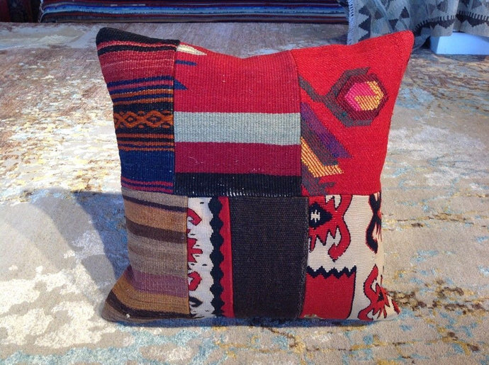 Vintage Style Hand-Woven Kilim Pillow Cover