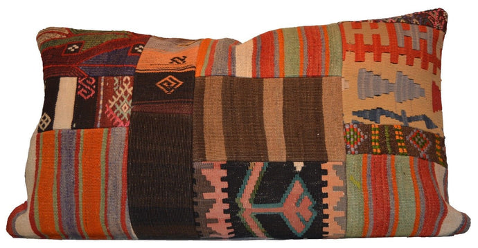 Patchwork Vintage Style Hand-Woven Kilim Pillow Cove