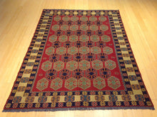 Load image into Gallery viewer, Beautiful Interior-Decorator Fine Oriental Afghan Soumak Handmade Handwoven Classy Real Wool Rug
