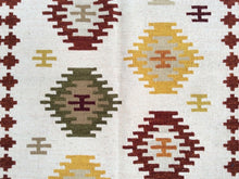 Load image into Gallery viewer, Durrie Kilim Handmade Gorgeous Handwoven Real Wool Best Classy Amazing Flatweave Rug
