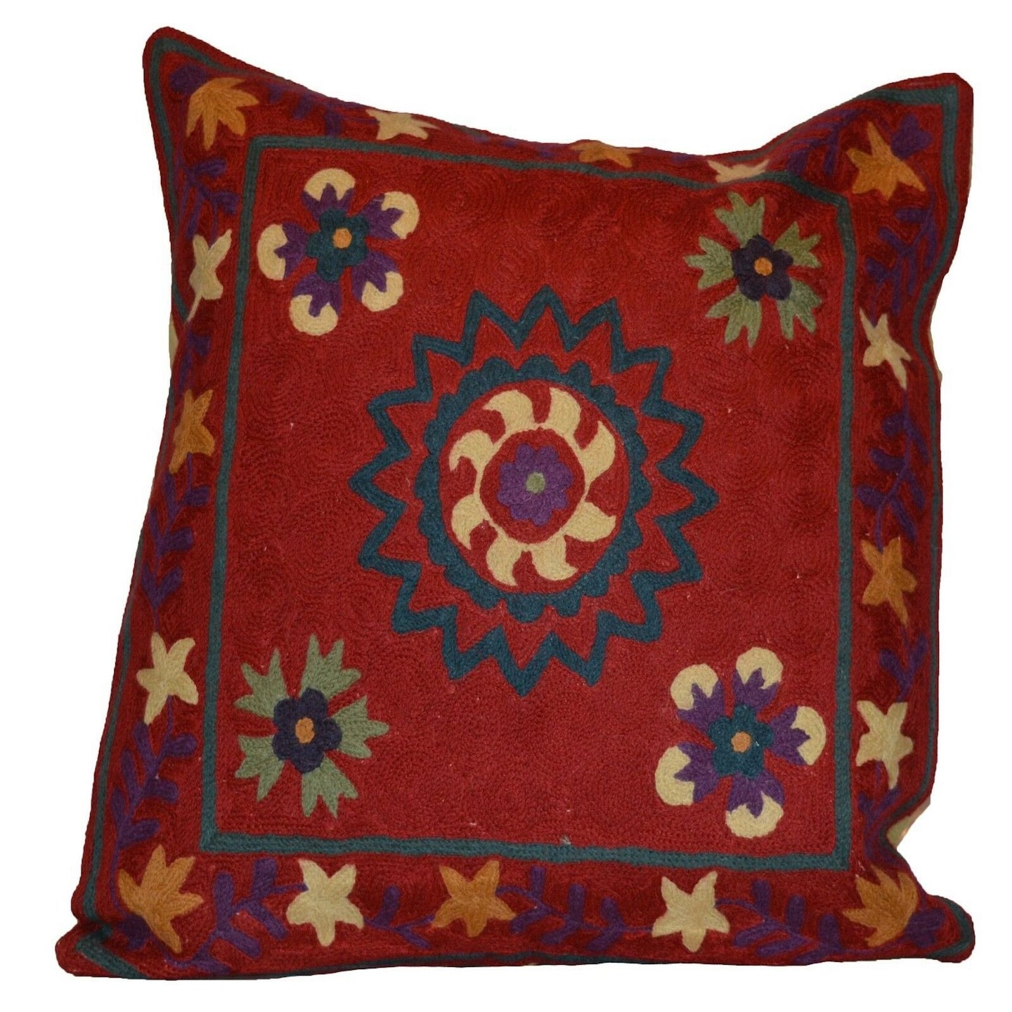 Red Southwestern Style Hand-Woven Kilim Pillow Cover Brpsf-2127
