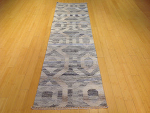 Hand-Woven Reversible Darrie Handmade Kilim Wool Rug (Size 2.6 x 9.11) Brral-5808
