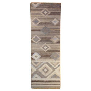Hand-Woven Reversible Darrie Handmade Kilim Wool Rug (Size 2.7 x 9.10) Brral-5814