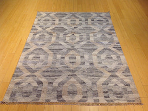 Hand-Woven Reversible Handmade Kilim Wool Rug (Size 5.0 x 6.11) Brral-5820