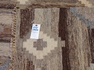 Hand-Woven Reversible Darrie Handmade Kilim Wool Rug (Size 9.2 x 11.10) Brral-5850