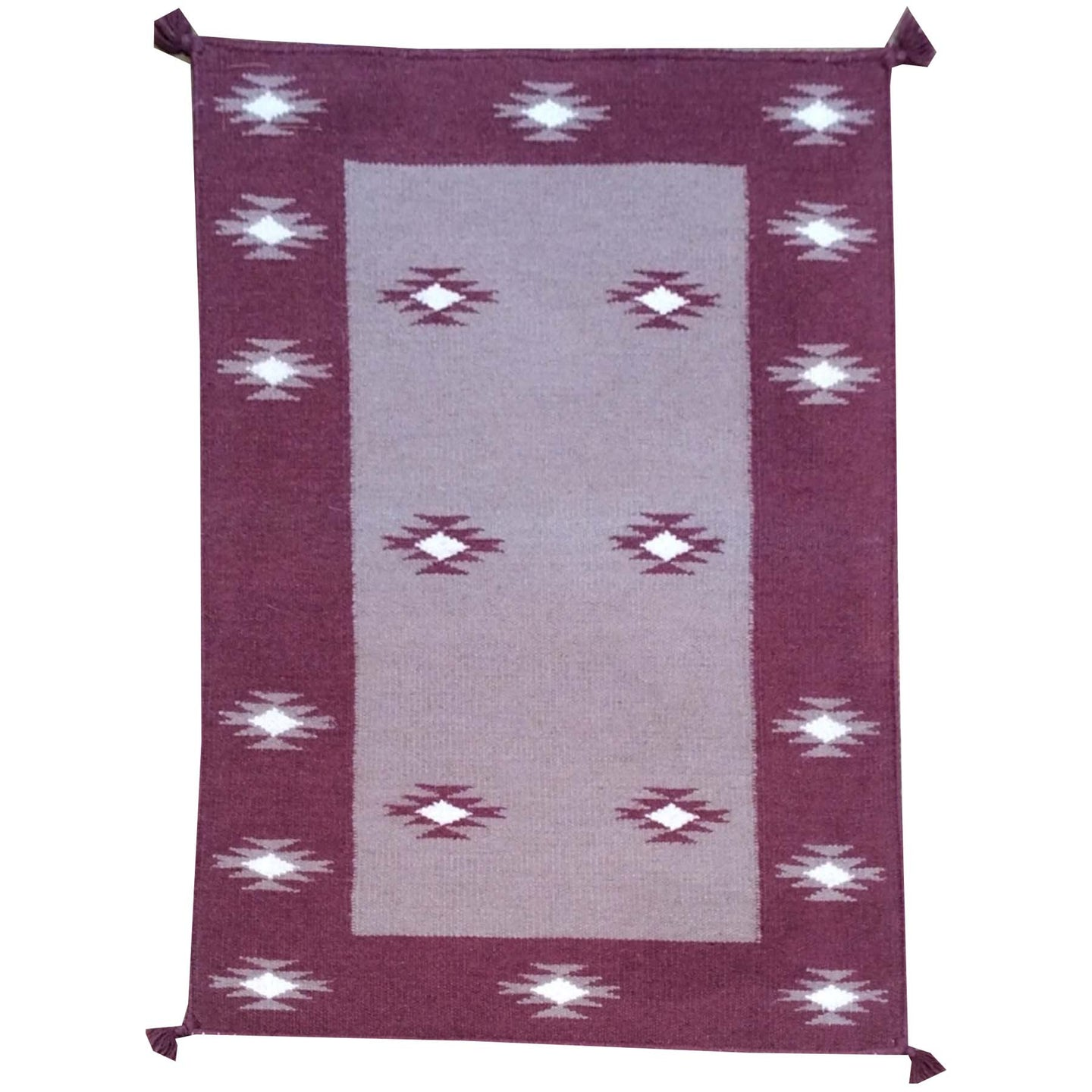 Hand-Woven Fine Southwestern Design Handmade Wool Rug (Size 2.1 X 3.1) Brrsf-1728