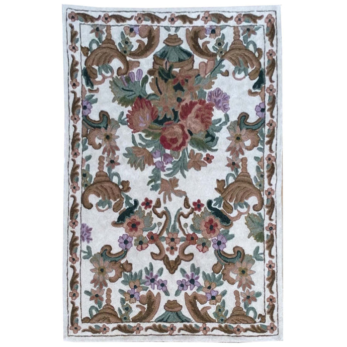 Chain-Stitched Fine India Handmade Wool Rug (Size 2.0 X 2.11) Brrsf-1734
