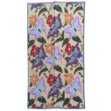 Load image into Gallery viewer, Chain-Stitched Kashmir Butterfly Design Wool Rug (Size 3.0 X 5.0) Brrsf-909