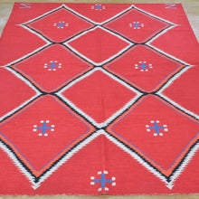 Load image into Gallery viewer, Chain-Stitched Kashmir Southwestern Design Wool Rug (Size 4.11 X 6.10) Brral-4209