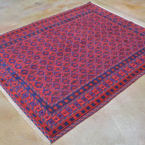 Hand-Knotted And Soumak Tribal Handmade Wool Rug (Size 5.2 X 6.2) Brrsf-6171