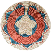 "Load image into Gallery viewer, 13"" to 15"" Inches Wide Hand-Woven Southwestern Design Basket Handmade Brbal-456"