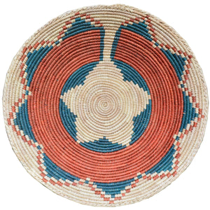 "13"" to 15"" Inches Wide Hand-Woven Southwestern Design Basket Handmade Brbal-456"